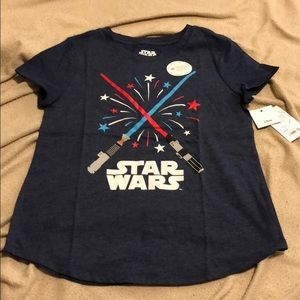 Star Wars tee, size large
